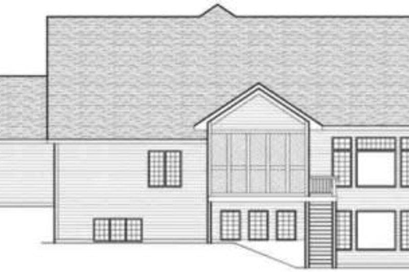 Traditional Exterior - Rear Elevation Plan #70-594 - Houseplans.com