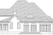 European Style House Plan - 4 Beds 4 Baths 3620 Sq/Ft Plan #119-237 Exterior - Rear Elevation