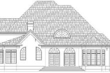 European Exterior - Rear Elevation Plan #119-237
