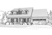 Country Style House Plan - 4 Beds 3 Baths 2712 Sq/Ft Plan #63-397 Exterior - Front Elevation