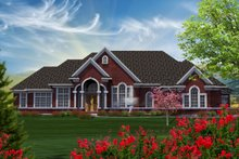Dream House Plan - Traditional Exterior - Front Elevation Plan #70-1183