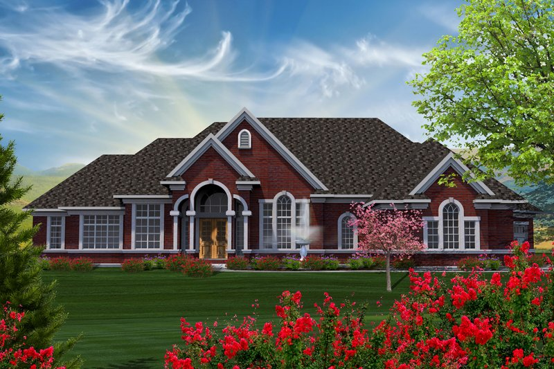 Traditional Exterior - Front Elevation Plan #70-1183 - Houseplans.com