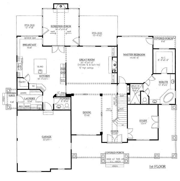 Traditional Floor Plan - Main Floor Plan #437-56
