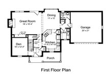 Country Floor Plan - Main Floor Plan Plan #46-478