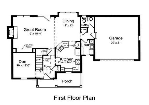 Country Floor Plan - Main Floor Plan #46-478
