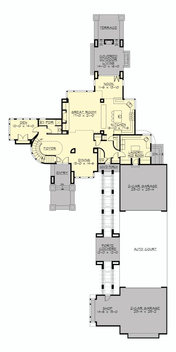 Prairie Floor Plan - Main Floor Plan #132-566