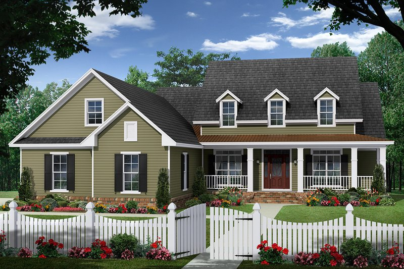 Ranch Exterior - Front Elevation Plan #21-453