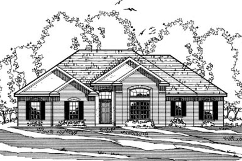 Traditional Exterior - Front Elevation Plan #31-126 - Houseplans.com