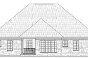 Southern Style House Plan - 3 Beds 2 Baths 1610 Sq/Ft Plan #21-203 Exterior - Rear Elevation
