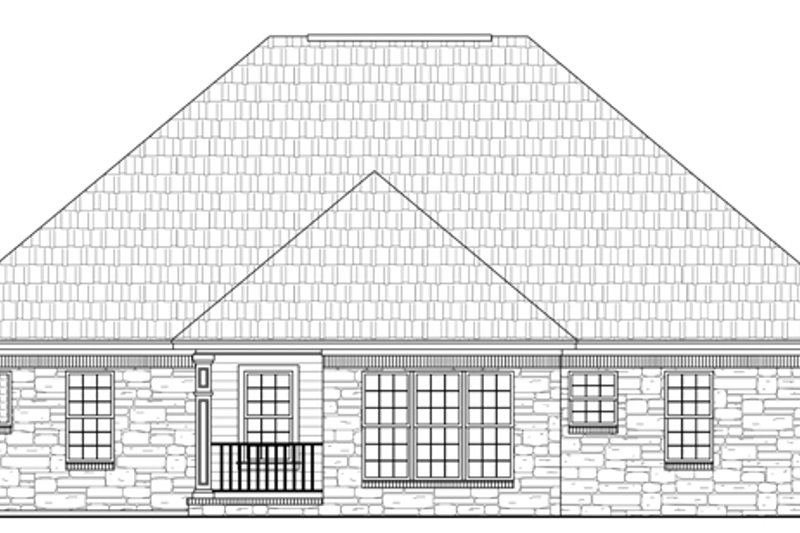 Southern Exterior - Rear Elevation Plan #21-203 - Houseplans.com