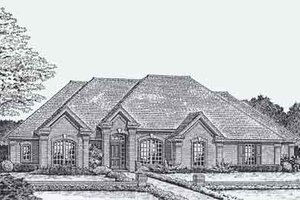 Colonial Exterior - Front Elevation Plan #310-805