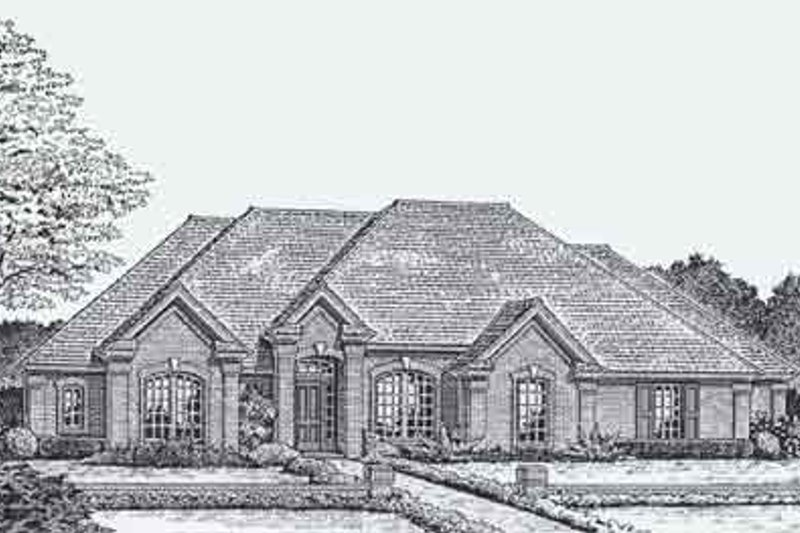 Colonial Style House Plan - 4 Beds 0 Baths 2169 Sq/Ft Plan #310-805 Exterior - Front Elevation