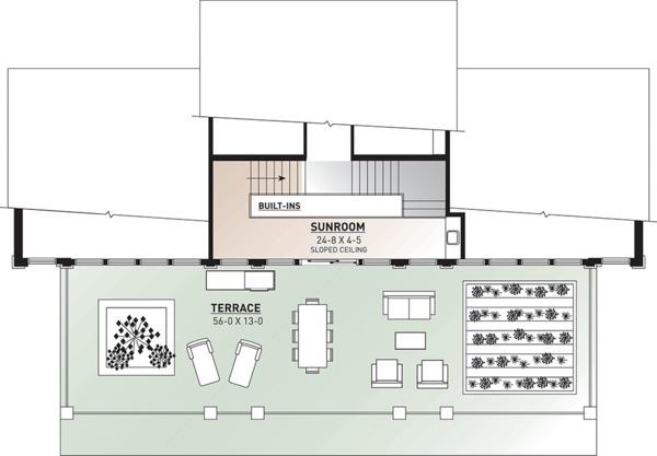 Beach Floor Plan - Upper Floor Plan Plan #23-1031