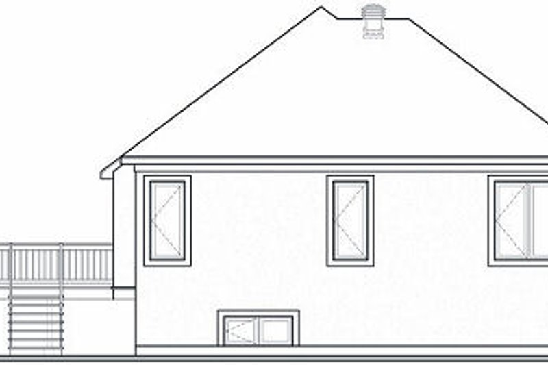 European Exterior - Rear Elevation Plan #23-702 - Houseplans.com