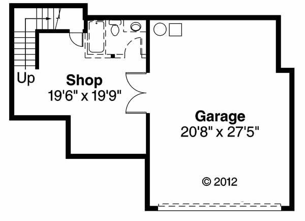 European Floor Plan - Lower Floor Plan Plan #124-542