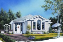 Cottage Exterior - Front Elevation Plan #23-683