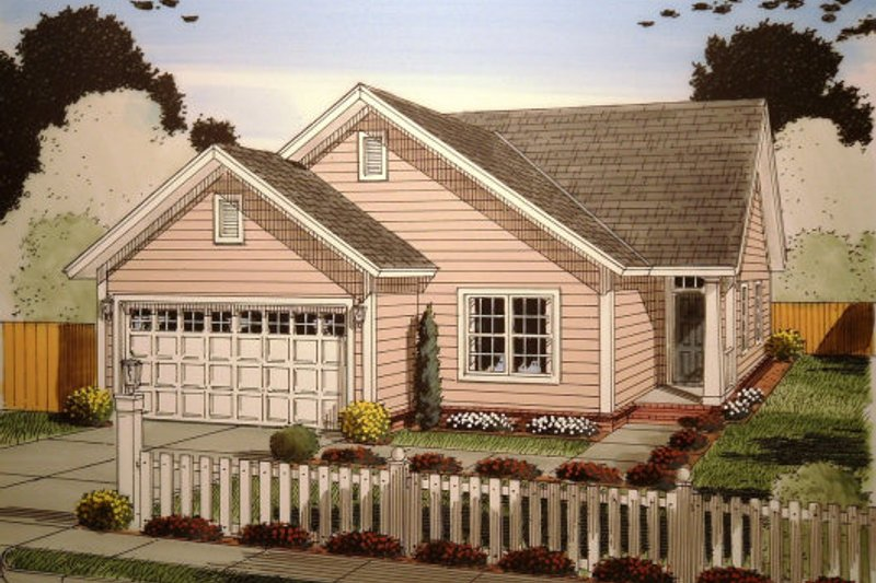 Traditional Exterior - Front Elevation Plan #513-10 - Houseplans.com