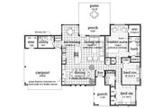 Ranch Style House Plan - 3 Beds 2 Baths 1550 Sq/Ft Plan #45-576 Floor Plan - Main Floor