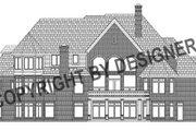 European Style House Plan - 5 Beds 7.5 Baths 7980 Sq/Ft Plan #458-13 Exterior - Rear Elevation