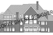 European Style House Plan - 5 Beds 7.5 Baths 7980 Sq/Ft Plan #458-13 Exterior - Rear Elevation