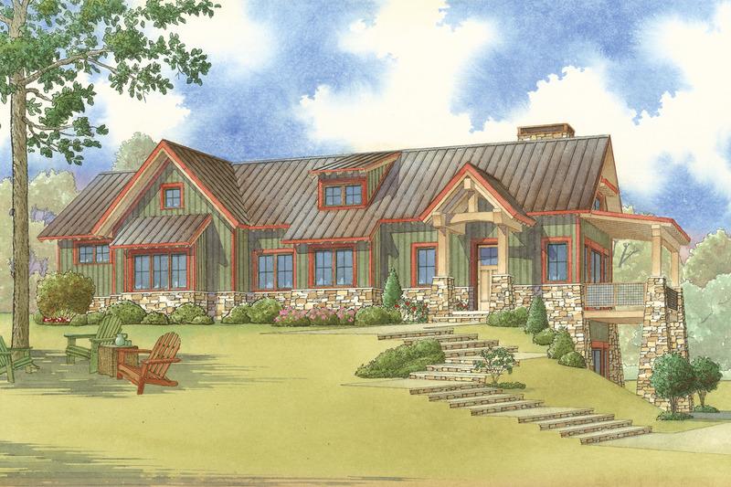 Craftsman Exterior - Front Elevation Plan #923-23 - Houseplans.com