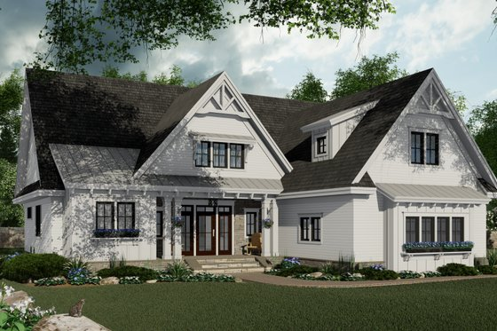 Farmhouse Exterior - Front Elevation Plan #51-1151
