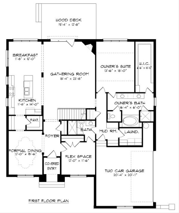 European Floor Plan - Main Floor Plan Plan #413-885