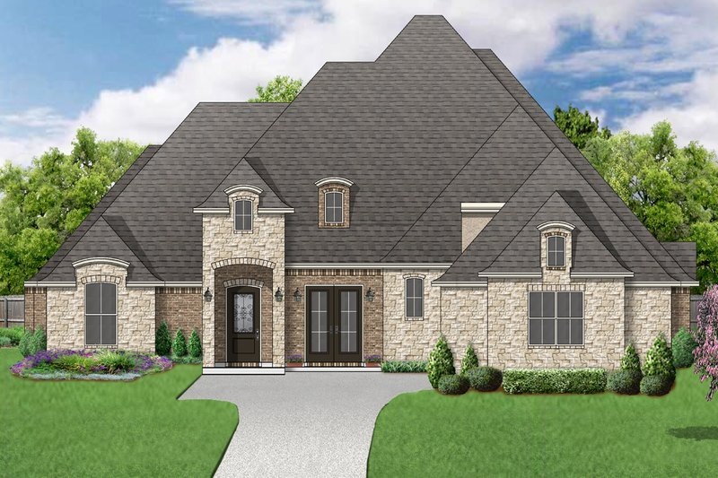 Traditional Style House Plan - 4 Beds 4 Baths 4031 Sq/Ft Plan #84-603 Exterior - Front Elevation