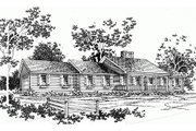 Ranch Style House Plan - 3 Beds 2 Baths 1670 Sq/Ft Plan #10-132 Exterior - Front Elevation