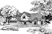 European Style House Plan - 4 Beds 2.5 Baths 1890 Sq/Ft Plan #312-104 Exterior - Front Elevation