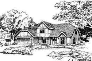 European Exterior - Front Elevation Plan #312-104
