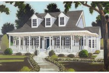 Colonial Exterior - Front Elevation Plan #3-257