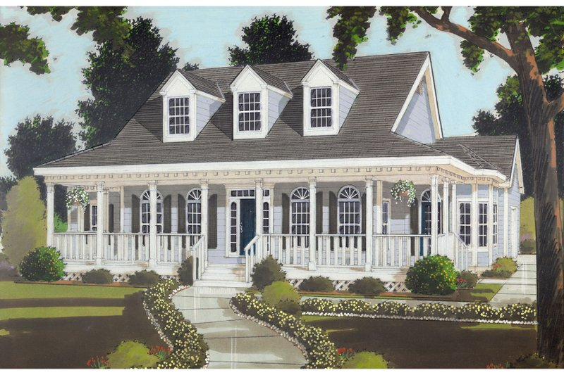 Architectural House Design - Colonial Exterior - Front Elevation Plan #3-257