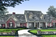 Country Style House Plan - 4 Beds 3.5 Baths 3062 Sq/Ft Plan #310-497 Exterior - Front Elevation