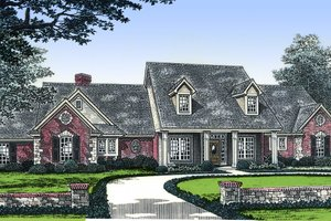 Country Exterior - Front Elevation Plan #310-497