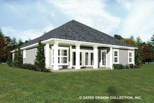 House Plan Design - Ranch Exterior - Rear Elevation Plan #930-485