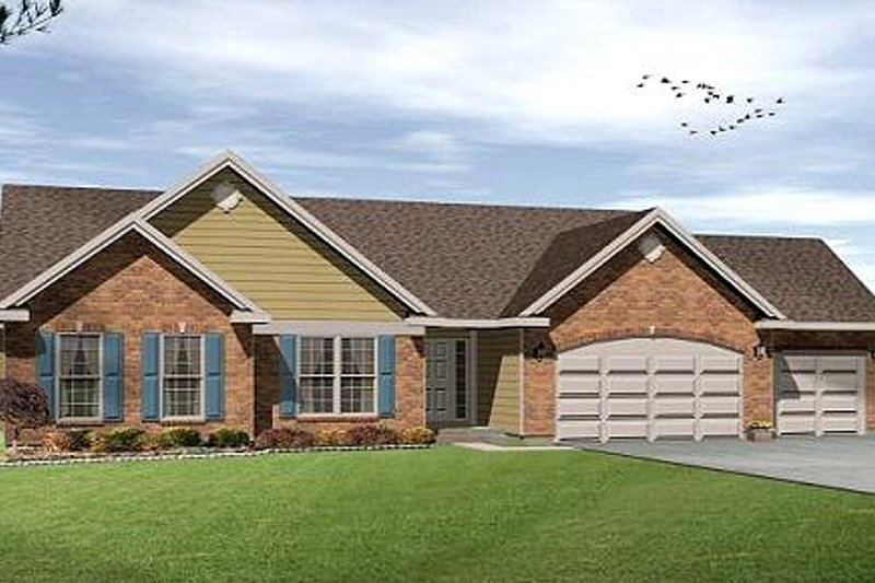 Architectural House Design - Ranch Exterior - Front Elevation Plan #22-527