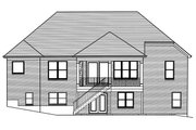 Ranch Style House Plan - 3 Beds 2 Baths 1955 Sq/Ft Plan #46-888 Exterior - Rear Elevation