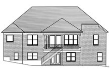 Ranch Exterior - Rear Elevation Plan #46-888