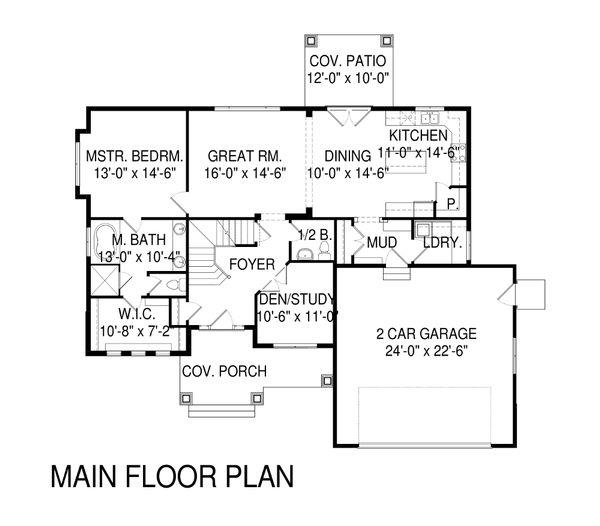 Traditional Floor Plan - Main Floor Plan Plan #920-11
