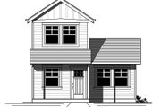 Craftsman Style House Plan - 1 Beds 1 Baths 696 Sq/Ft Plan #423-48 Exterior - Front Elevation