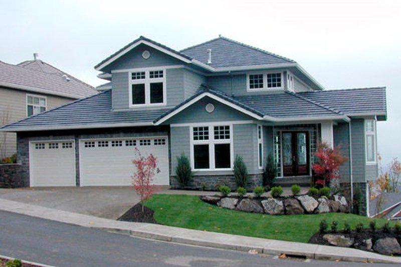 Craftsman Exterior - Front Elevation Plan #48-354