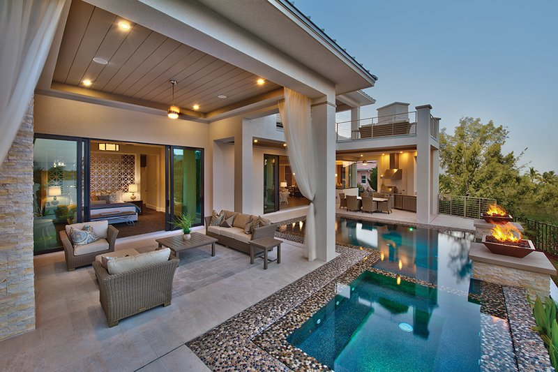 Contemporary Exterior - Outdoor Living Plan #930-20 - Houseplans.com