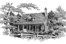 Home Plan Design - Country Exterior - Front Elevation Plan #41-131