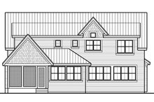 House Plan Design - Craftsman Exterior - Rear Elevation Plan #51-565