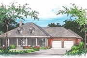Southern Style House Plan - 3 Beds 2 Baths 2137 Sq/Ft Plan #15-247 Exterior - Front Elevation