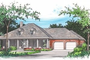 Southern Exterior - Front Elevation Plan #15-247