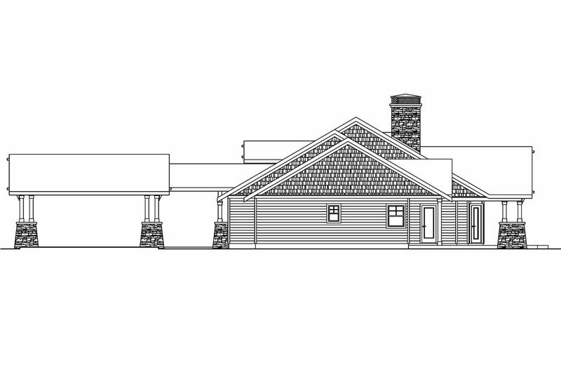 Craftsman Exterior - Other Elevation Plan #124-704 - Houseplans.com