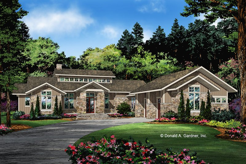 Home Plan - Contemporary Exterior - Front Elevation Plan #929-1074
