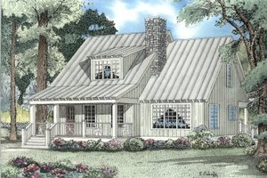 Country Exterior - Front Elevation Plan #17-2022